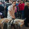 Bread delivery in the Tabriz Bazaar