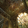 Lots of shiny things and lots of chandeliers inside the Golestan Palace buildings