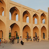 Hanging out in the courtyard of the Amir Chakmakh Complex