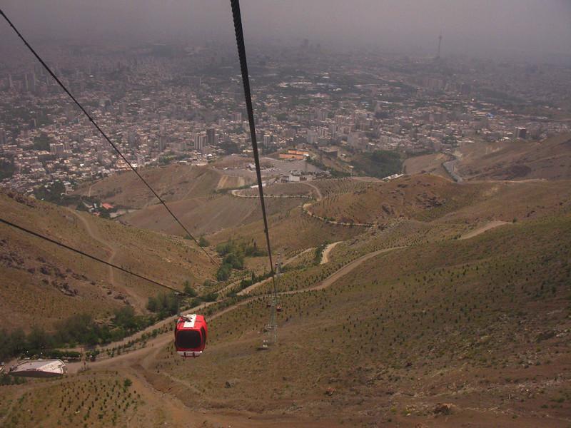 Down into Tehran.
