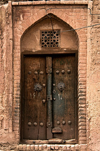 An Old Door and The Brick Wall, Abyaneh Iran.