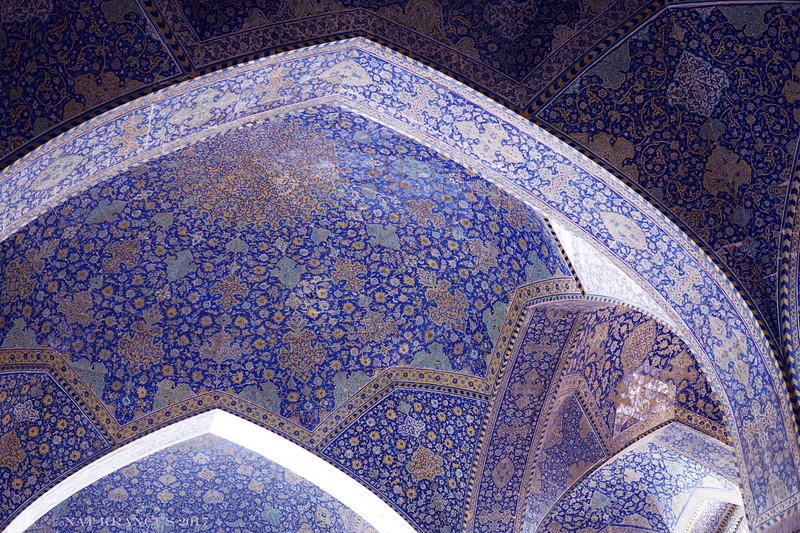 Interior of the Shah Mosque, Isfahan, Iran, 2016