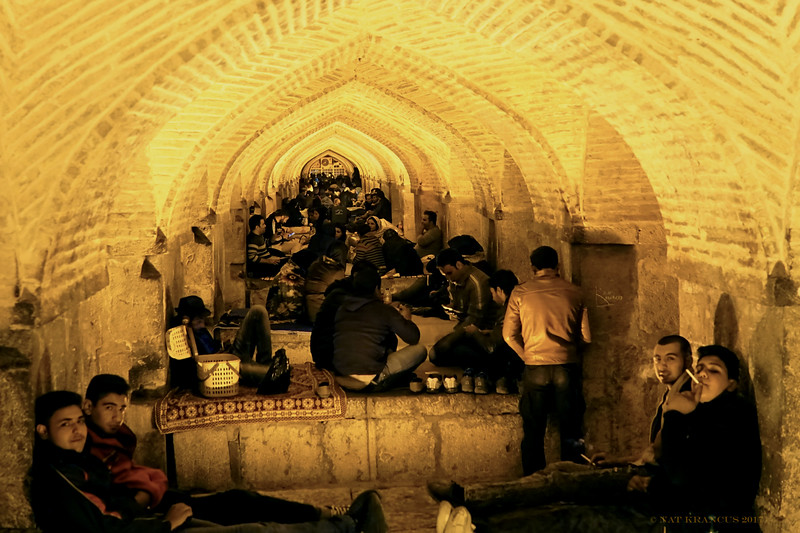 Under the Khaju Bridge, Isfahan, Iran, November 2016