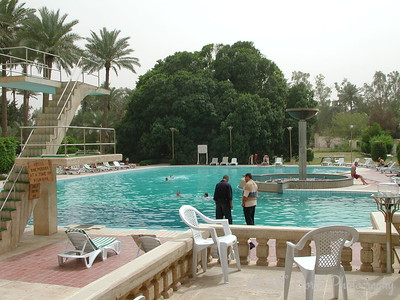 The pool behind the Republican Palace.