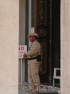 Gurkha guard at the Republican Palace.