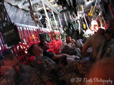 Hitching a ride on a military C-130 from Kuwait to Kirkuk. Definitely not business class.
