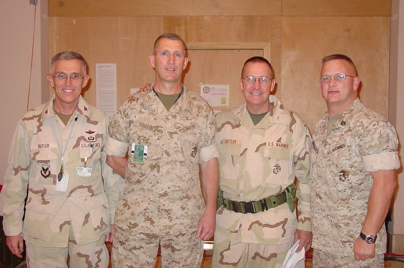 Col Butler, LtCol Schreiber, Gen Sattler, SSgt Snellgroves