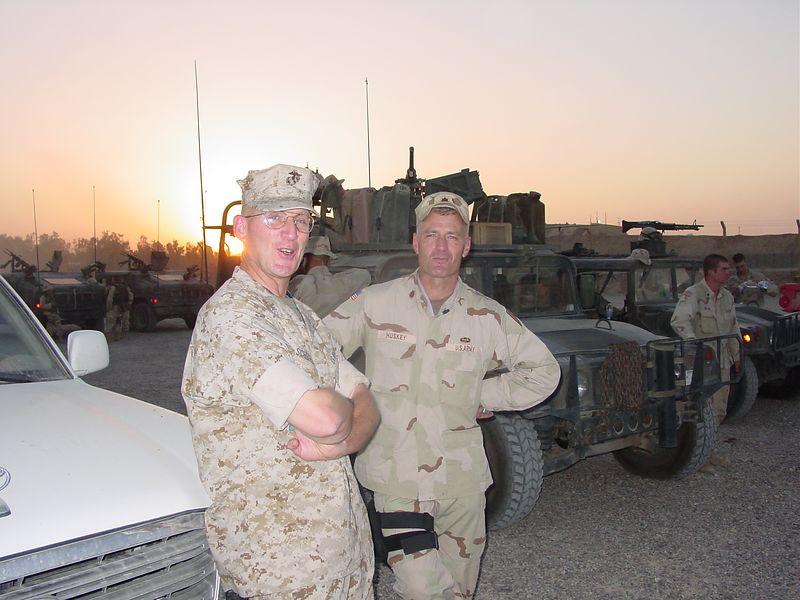 LtCol Schreiber  Maj Huskey<br /> Stop tking pictures of the sunset!