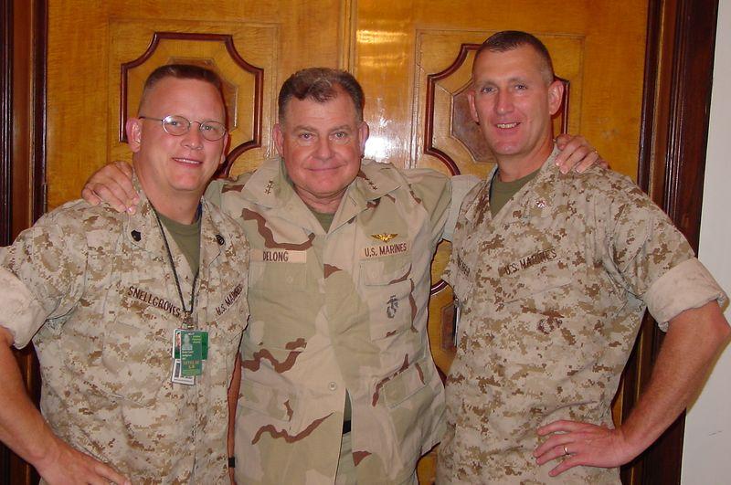 SSgt Snellgroves, Gen DeLong, LtCol Schreiber