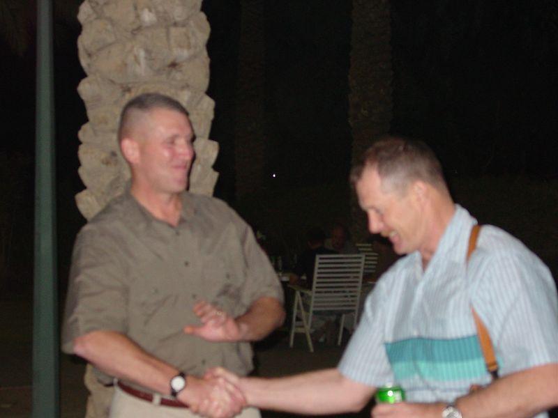 Fairwell to LTC Robertson Oct 2003
