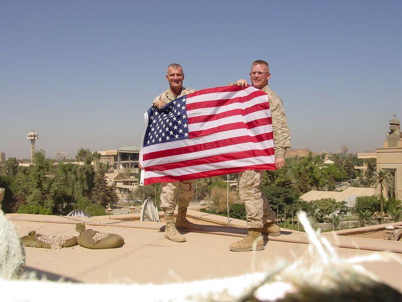 Maj Huskey & SSgt Snellgroves  Baghdad Iraq 2003