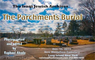 Iraqi Jewish archive scrolls burial