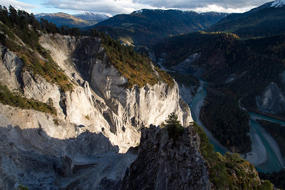 Flimser Bergsturz, Vogelperspektive