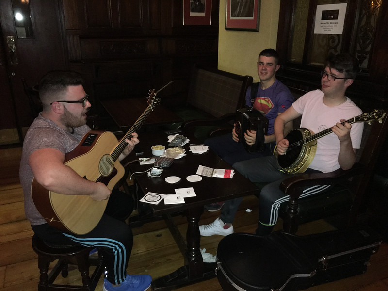 Ennis is famous for traditional music at pubs.