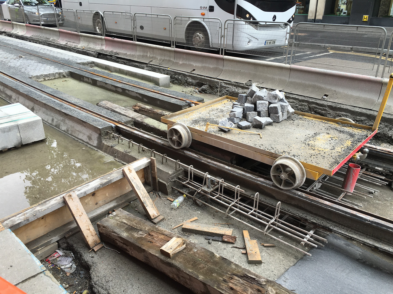 new streetcar lines being built in Dublin