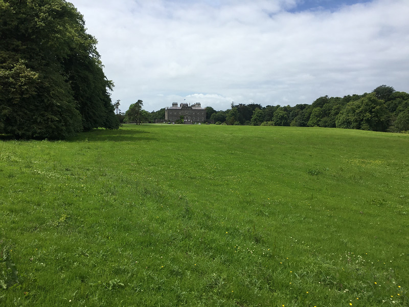 Mansions were built by English land-owners who confiscated Irish lands.