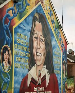 Bobby Sands Mural, Sinn Fein Building, Falls Road, Belfast, N. Ireland