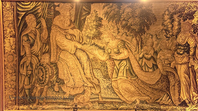 Tapestry of Queen of Sheba and King Solomon, Hall of Vicars, Rock of Cashel (St Patrick's Rock), Cashel, Co Tipperary
