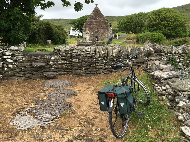 returned to old church on bikes we rented