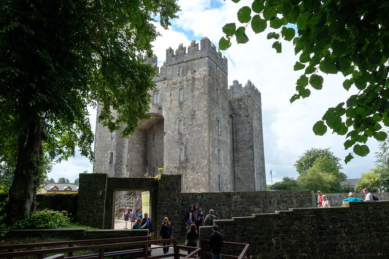 Bunratty Castle was built around 1425.  We arrived shortly after the grounds opened and  made our way through the village to the castle.  We were able to join a tour group and  explore .