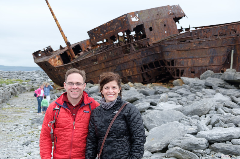 Cindy and I at the shipwreck