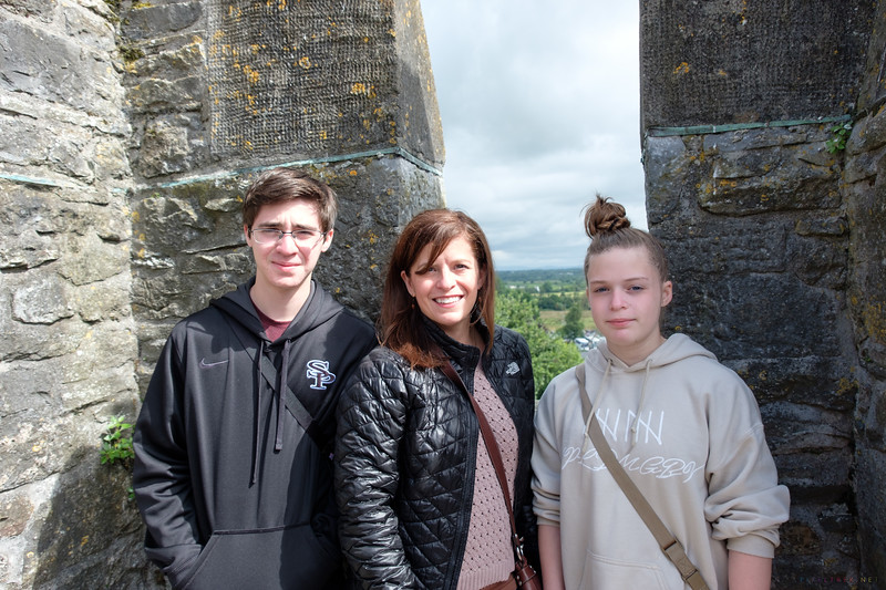 The family on the rooftop of Bunratty