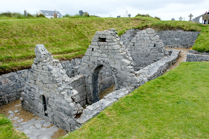 "Ruins of Saint Gobnait's church.  Referred to by the locals as ""The Underground Church"""