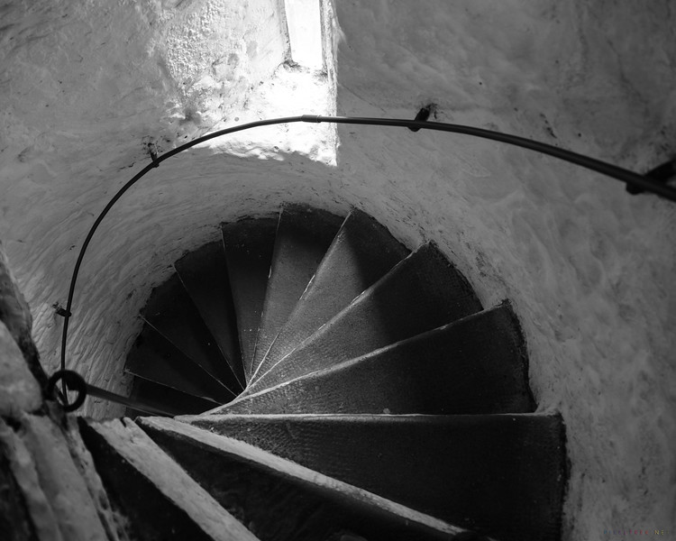 Stairs from the tower in Bunratty Castle