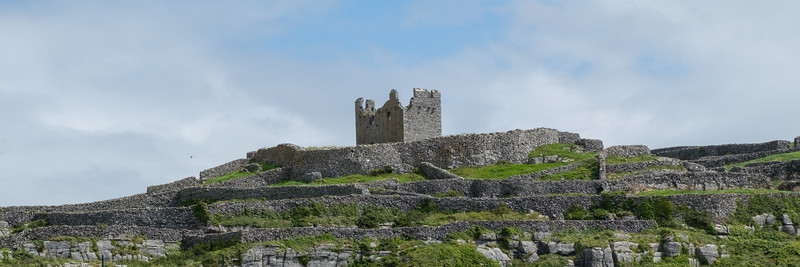 The 14th century Fort O'Brien surrounded by stone walls