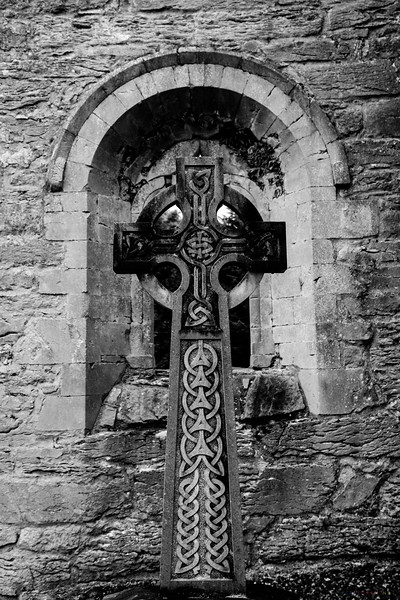 A cross just outside the Abbey