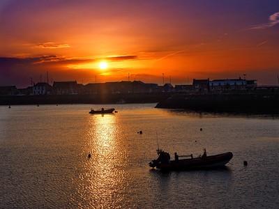 Sunset at Howath, near Dublin
