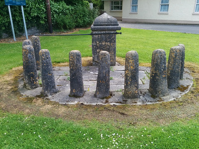 Remains of fountain in fron of church in Daingean
