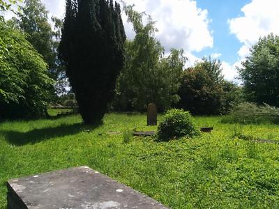 Cemetery behind the church