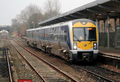 3001 at Bangor on 15th December 2007