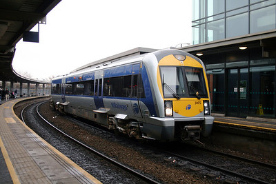 3005 at Belfast Central on 15th December 2007