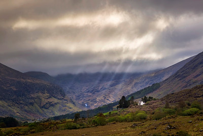 God Rays over the Black Valley