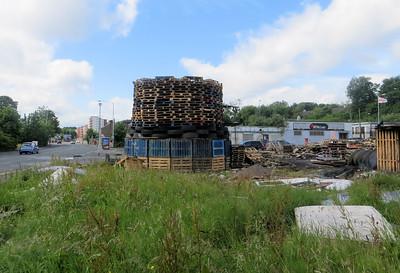 12 July bonfire in East Belfast