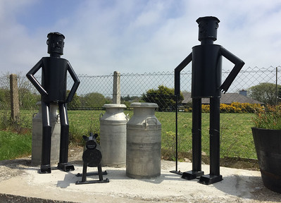Tin men sculpture