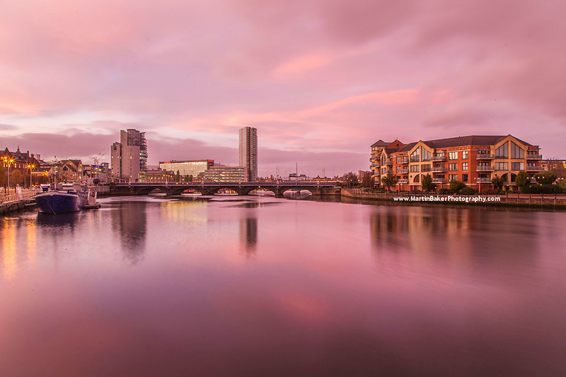 River Lagan, Belfast, Northern Ireland.