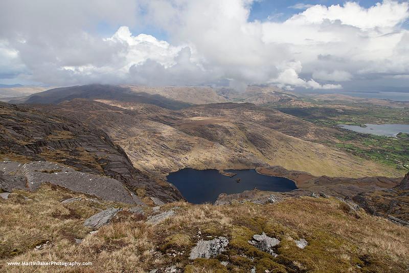 Adrigole and Caha Mountains (view from Hungry Hill), Beara Peninsula, Cork, Ireland.