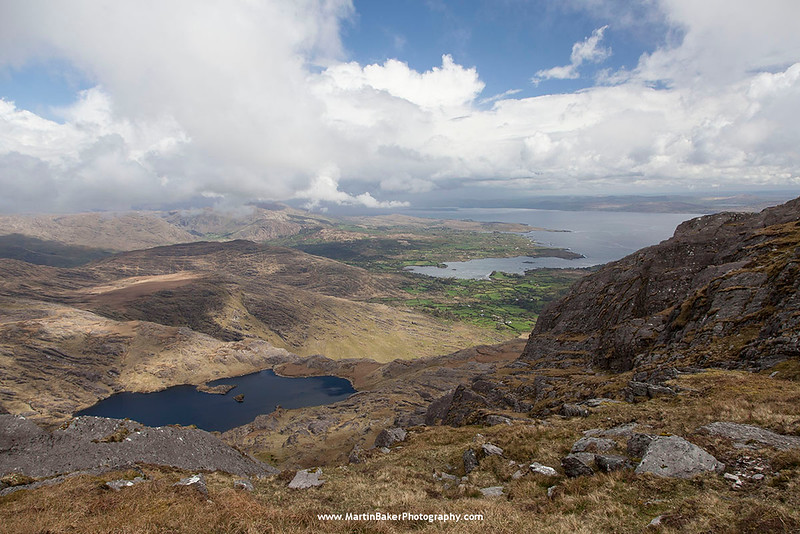 Adrigole and Caha Mountains (view from Hungry Hill), Beara Peninsula, Cork, Ireland.