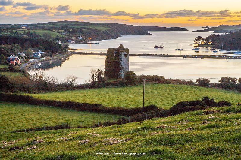 Reen Pier and Castle Haven Bay, Cork, Ireland.