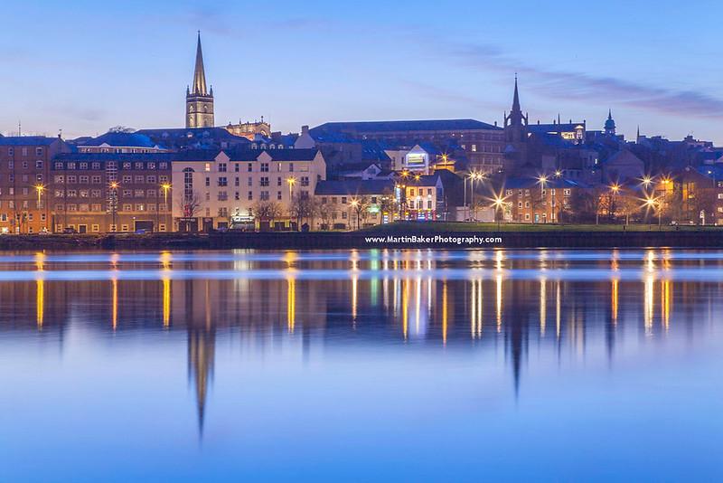 River Foyle, Derry city, Northern Ireland.