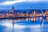 River Foyle and Derry, Northern Ireland.