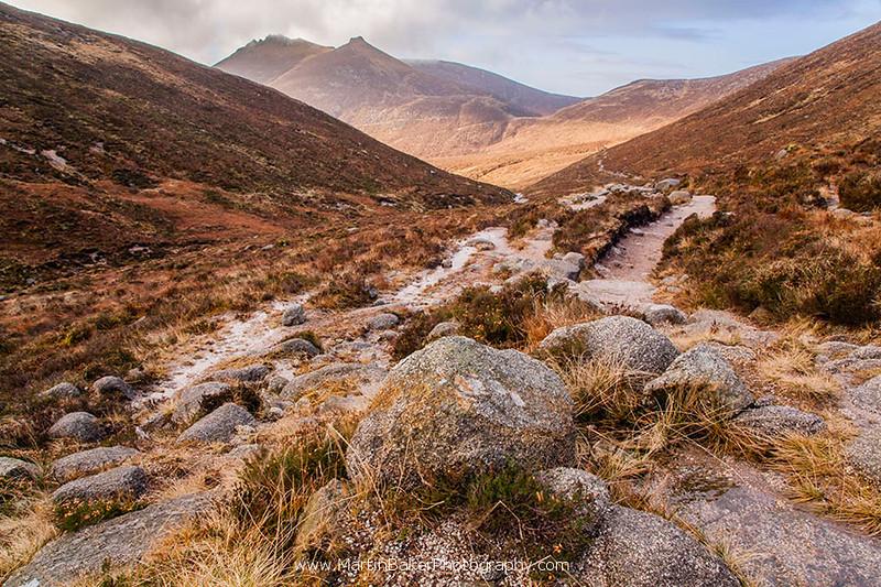 Ben Crom Reservoir Valley, Mourne Mountains, Down, Northern Ireland.