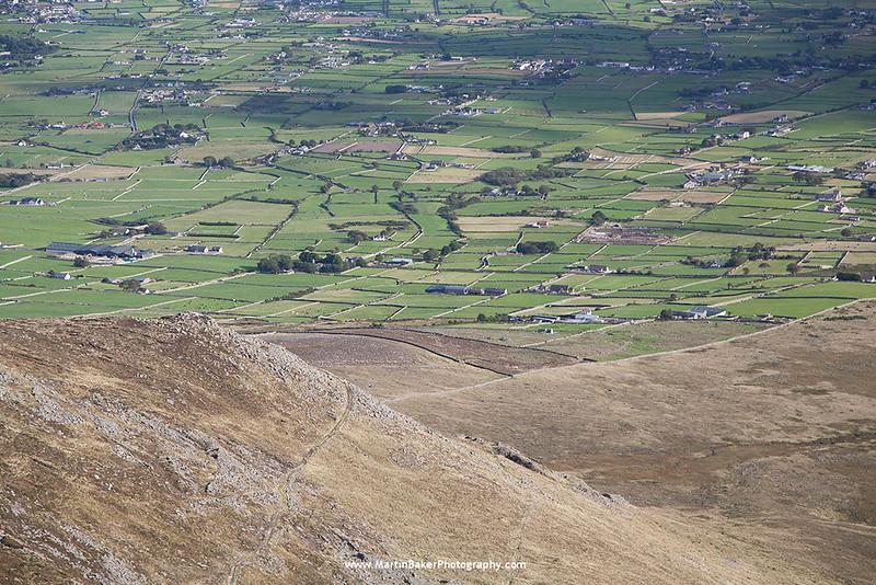 View from Slieve Binnian, The Mourne Mountains, Down, Northern Ireland.