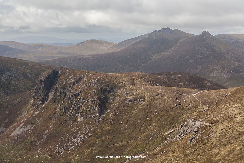 Slieve Beg and Slieve Bearnagh, The Mourne Mountains, Down, Northern Ireland.