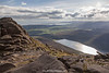 The Silent Valley Reservoir, View from Slieve Binnian, The Mourne Mountains, Down, Northern Ireland.