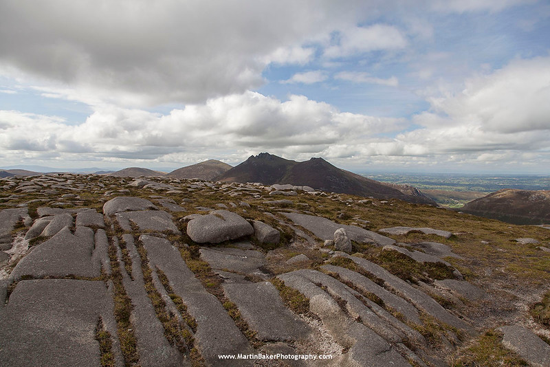 Slieve Bearnagh (view from Cove Mountain), The Mourne Mountains, Down, Northern Ireland.