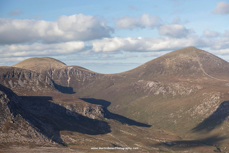 Slieve Commedagh and Slieve Donard, The Mourne Mountains, Down, Northern Ireland.